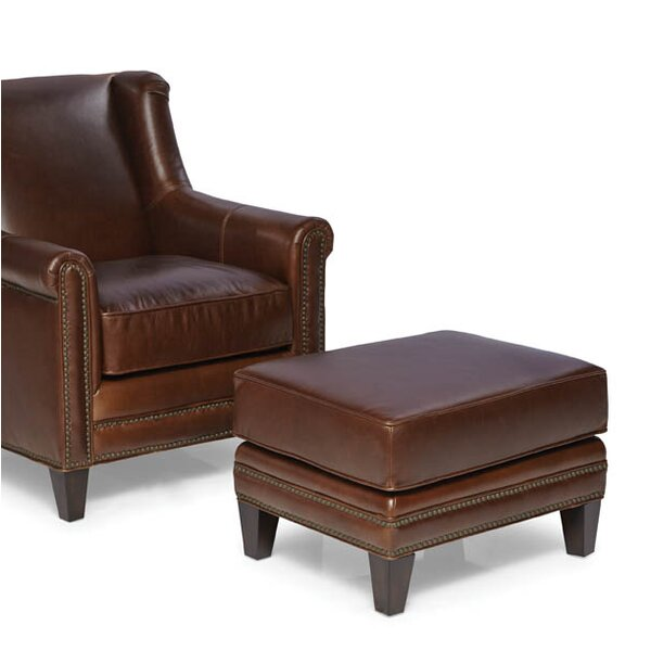 Keltner Leather Ottoman by Darby Home Co
