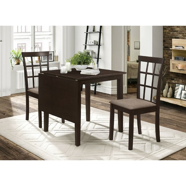 Aaden 3 Piece Drop Leaf Dining Set by Winston Porter Winston Porter