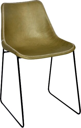 Genuine Leather Upholstered Dining Chair by Fashion N You by Horizon Interseas