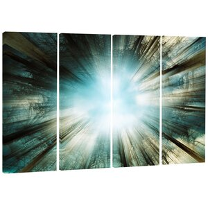 'Light From Sky' 4 Piece Graphic Art on Wrapped Canvas Set by Design Art