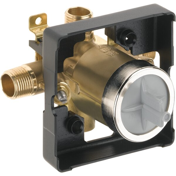 Delta MultiChoice Universal Mixing Rough-In Valve with Service Stops and High-Flow - No Tub Port by Delta