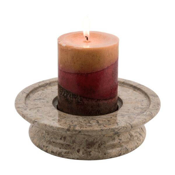 3 Tier Marble Candle Dish by Marble Products Inter