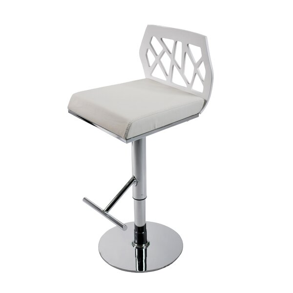 Malvern Adjustable Height Swivel Bar Stool by Brayden Studio