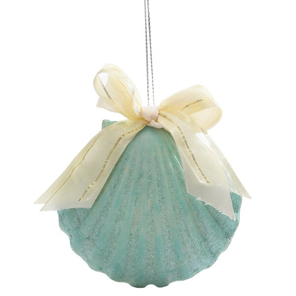 Seas and Greetings Scallop Tree Ornament by Beachc