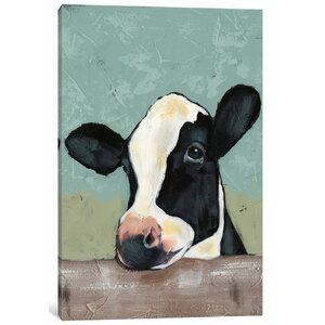 'Holstein Cow II' Painting Print on Canvas by East Urban Home