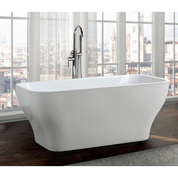 Novara 59 x 28 Freestanding Soaking Bathtub by Bellaterra Home