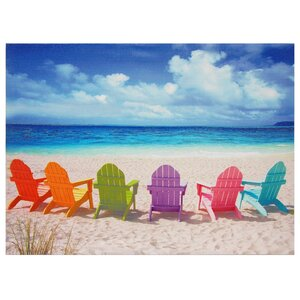 'Peekskill Beach Chairs' Photographic Print on Wrapped Canvas by Beachcrest Home