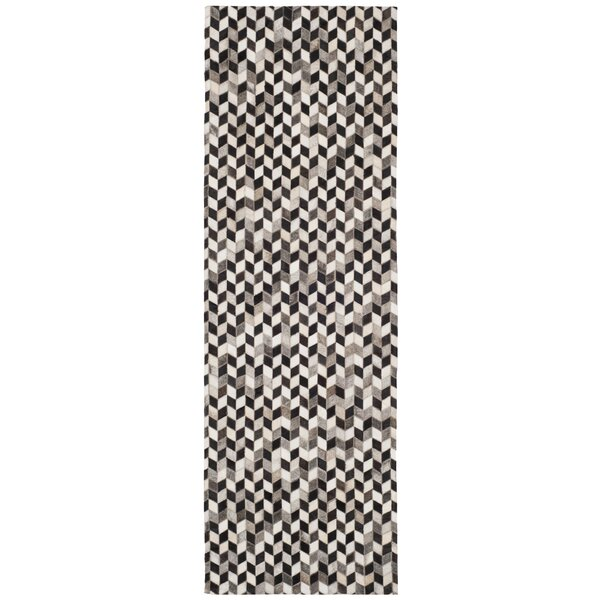 Patricio Leather Hand Tufted Gray Area Rug by 17 Stories