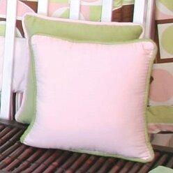 Modern Baby Girl Caffe Throw Pillow by Brandee Danielle