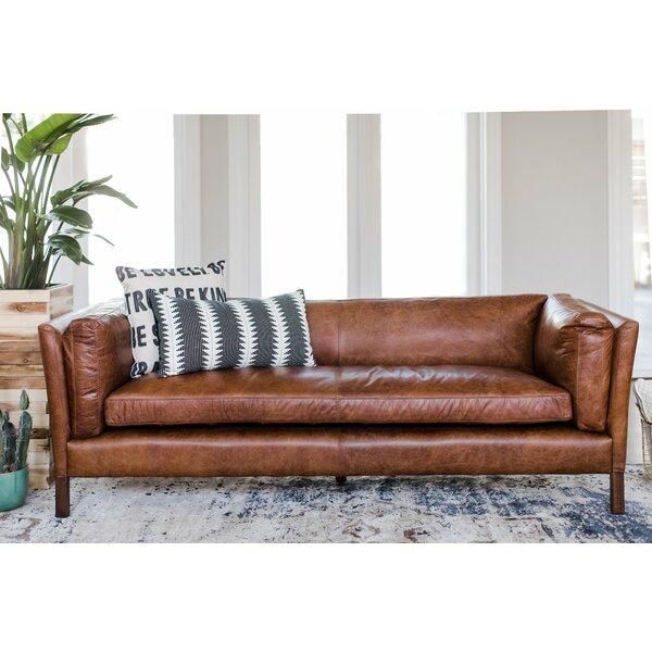 Looking for Chappell Leather Sofa By Bungalow Rose Comparison