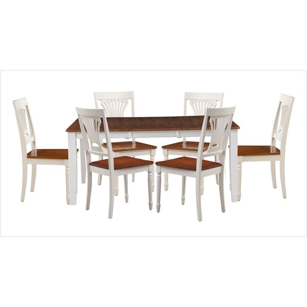 Wahl 7 Piece Extendable Solid Wood Dining Set by Breakwater Bay