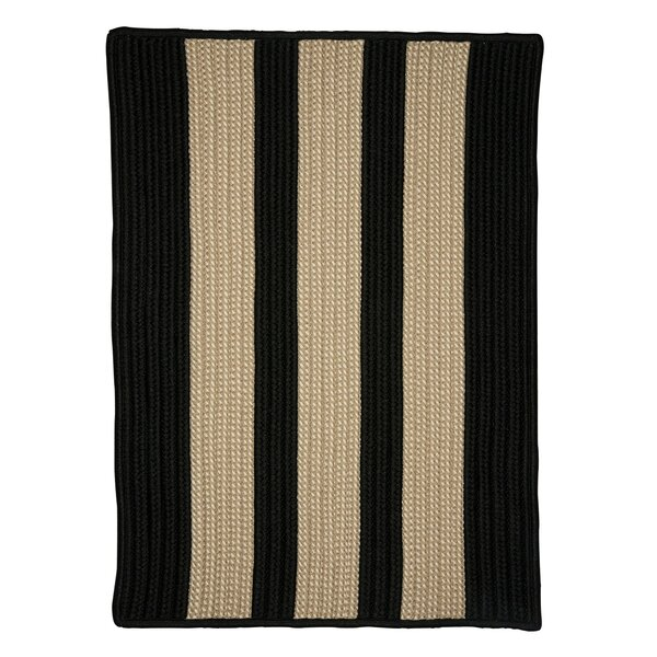 Seal Harbor Hand-Woven Black/Beige Area Rug by Breakwater Bay