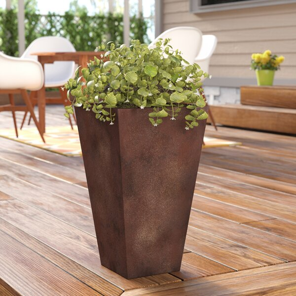 Cowles Tall Angled Fiber Clay Pot Planter by Wrought Studio