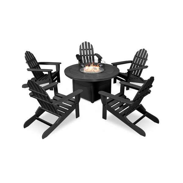 Classic Folding Adirondack 6-Piece Multiple Chairs Seating Group by POLYWOOD®