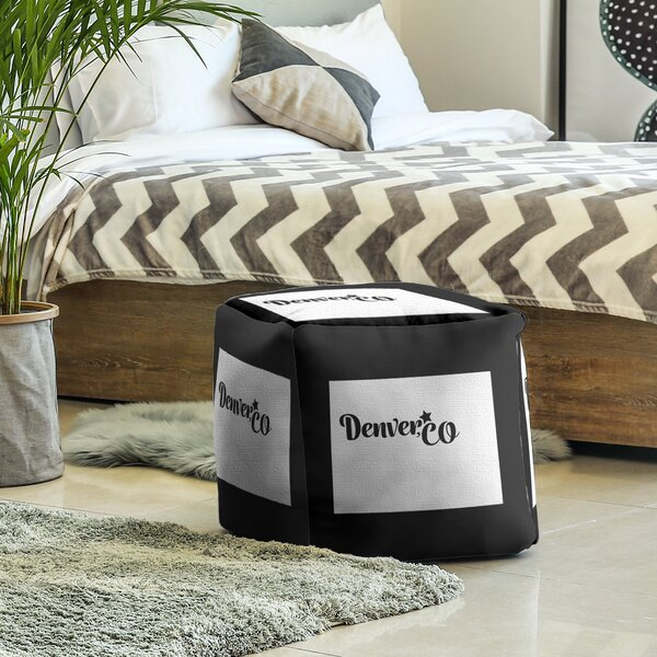Denver Colorado Cube Ottoman by East Urban Home East Urban Home