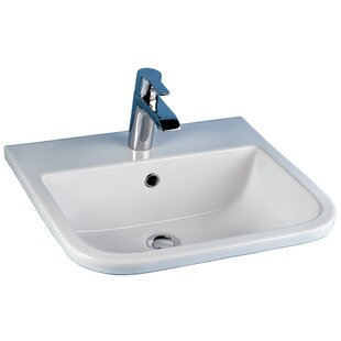 Compare Series 600 Vitreous China Rectangular Drop-In Bathroom Sink with Overflow By Barclay