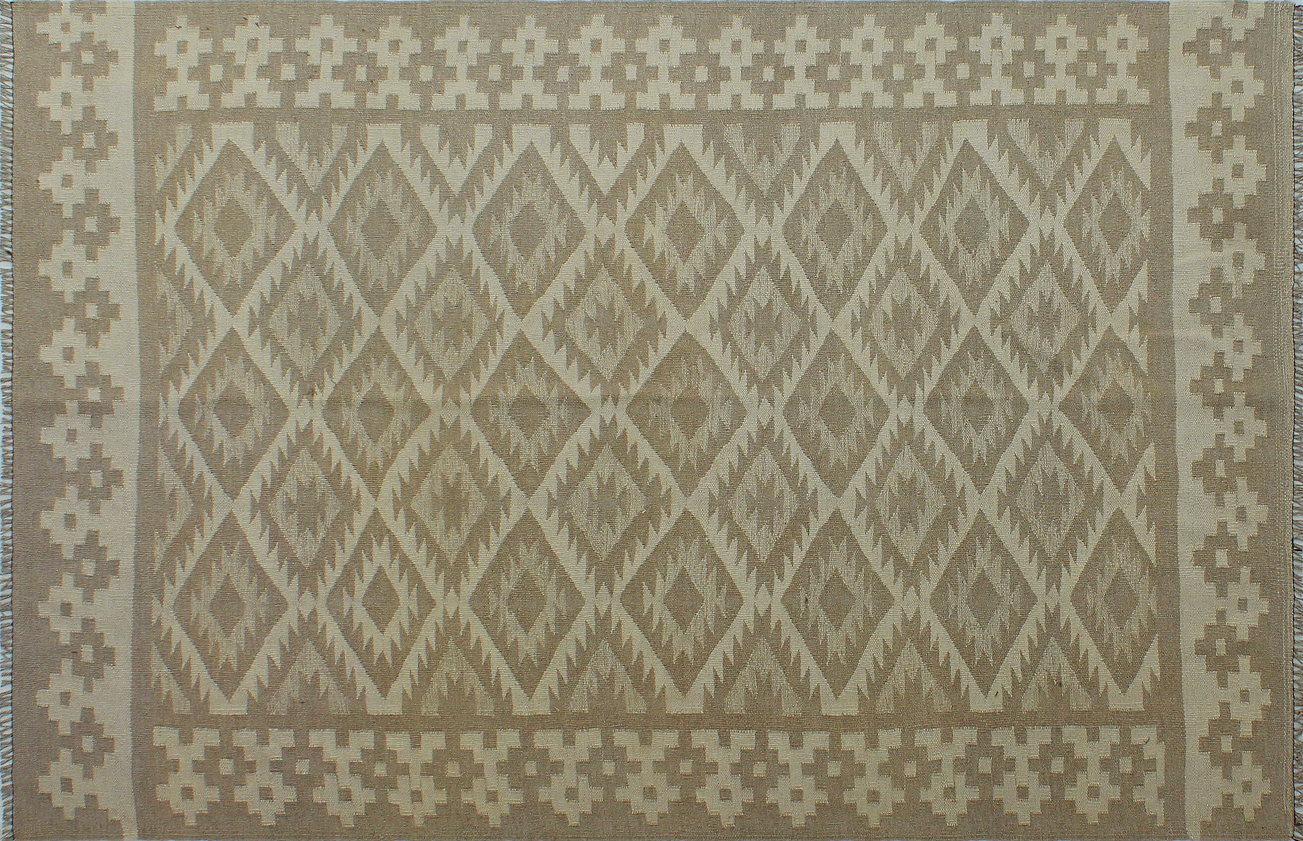Foundry Select Benge Hand Knotted Wool Gray Beige Area Rug Wayfair