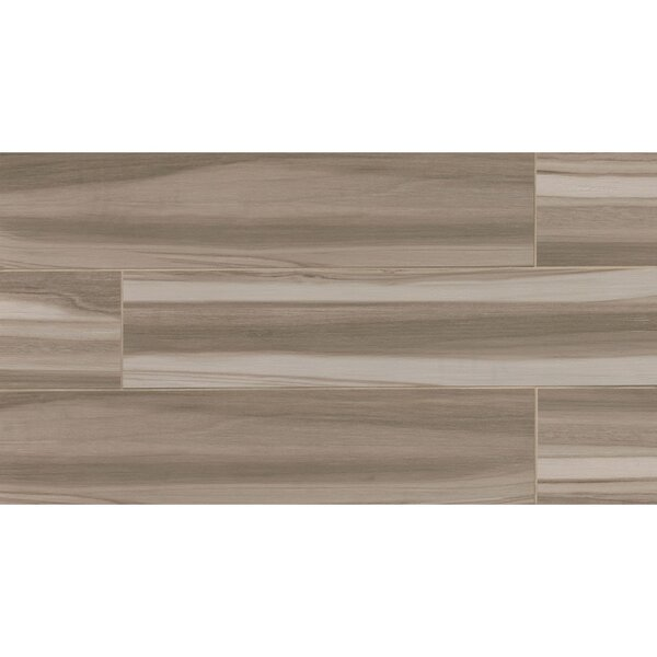 Nantucket 8 x 36 Porcelain Wood Tile in Taupe by Grayson Martin
