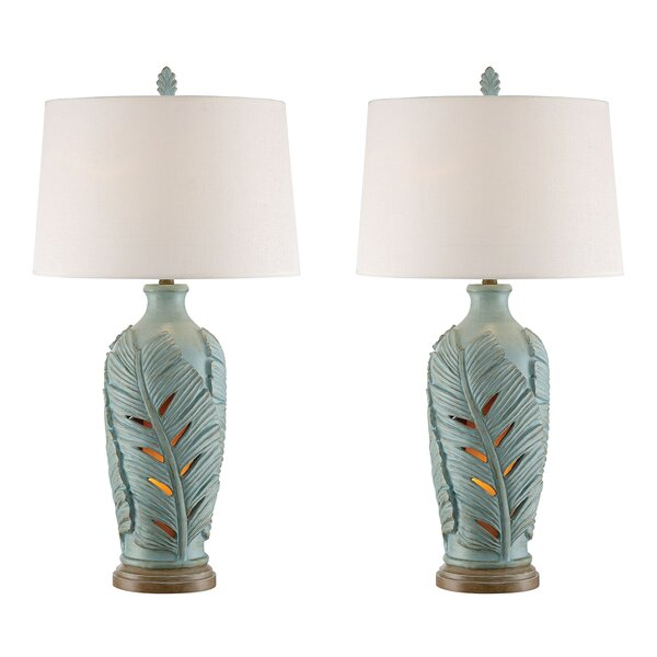 Lars Leaf 34 Table Lamp (Set of 2) by Highland Dunes