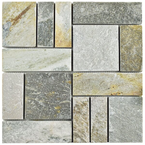 Peak Patchwork Random Sized Slate Mosaic Tile in Arizona by EliteTile