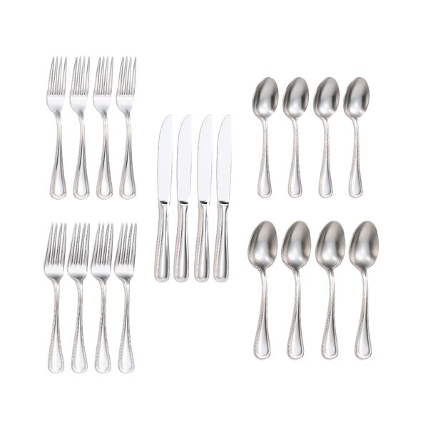 Ryerson 20-Piece 18/10 Stainless Steel Flatware Set by Charlton Home