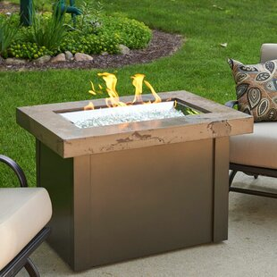 Compare prices Providence Metal Gas Fire Pit Table ByThe Outdoor GreatRoom Company