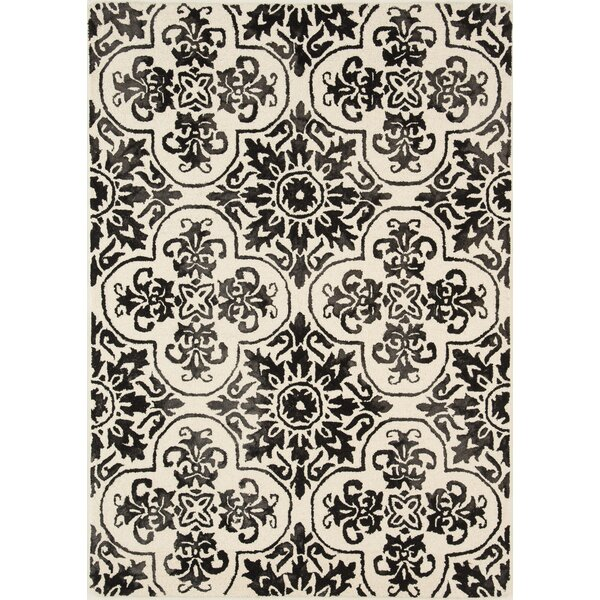 Labriola Hand-Woven Wool Black/White Area Rug by House of Hampton
