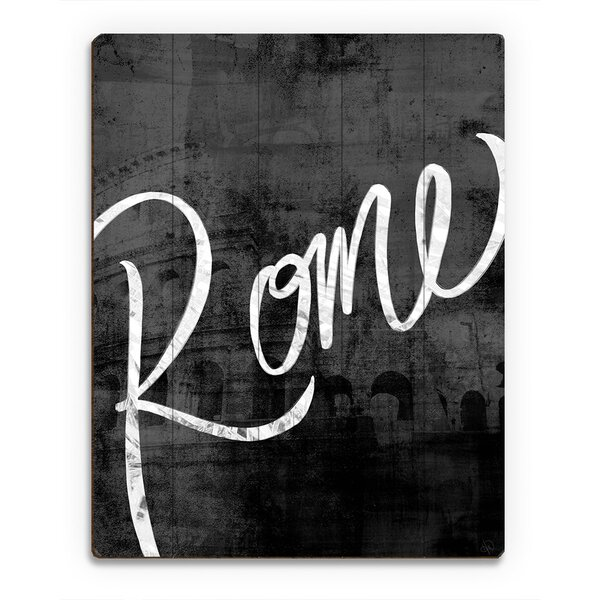 Wood Slats Urban Rome Graphic Art on Plaque by Click Wall Art