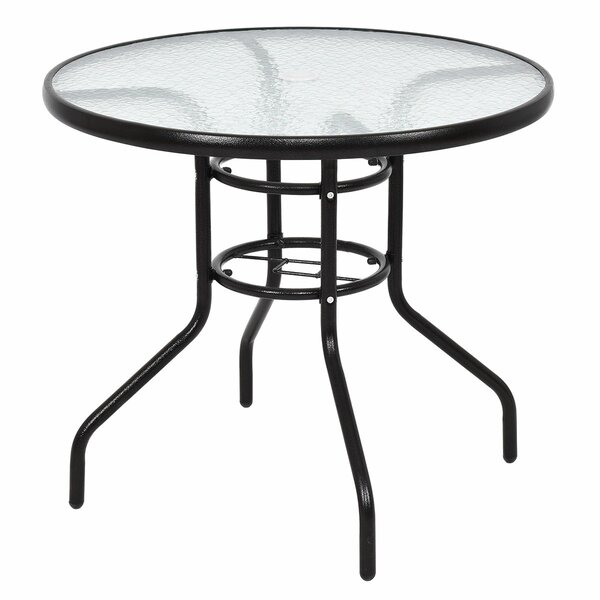 Ricard Patio Round Steel Dining Table by Winston Porter