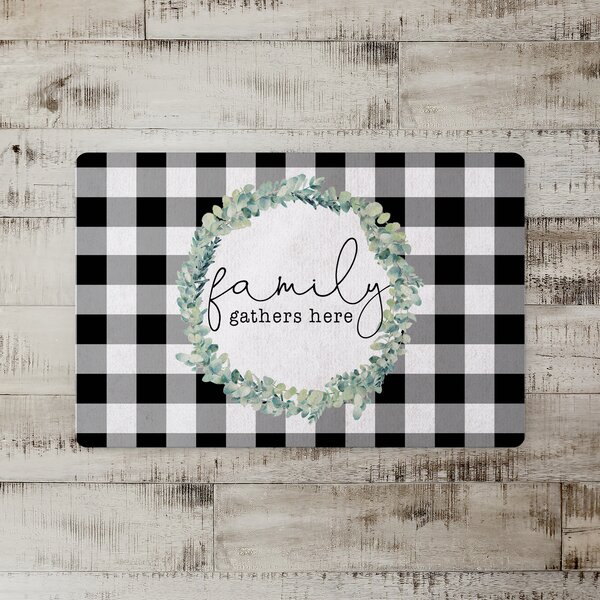 Rotteck Family Gathers Here Kitchen Mat