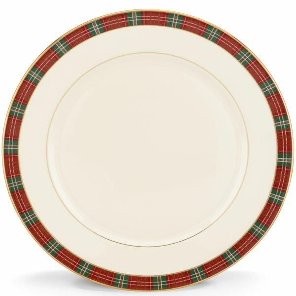 Winter Greetings Plaid Dinner Plate By Lenox.