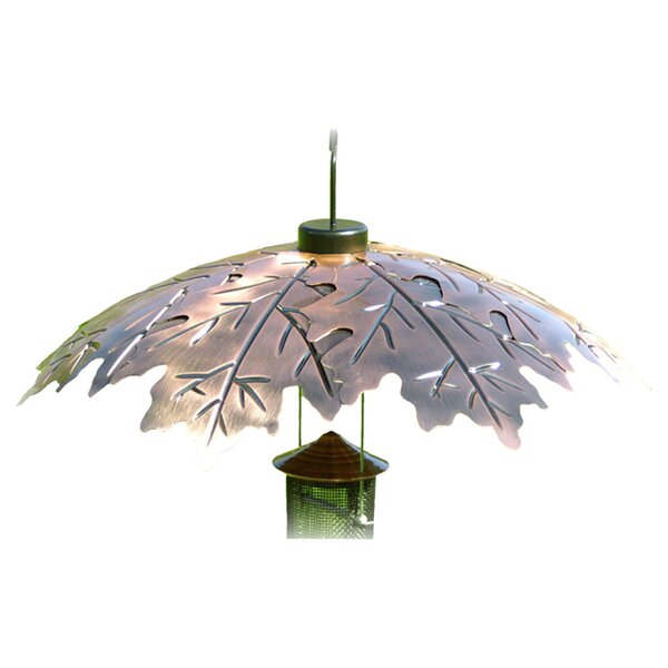 18 Weather Shield Copper Oak Leaf Squirrel Baffle