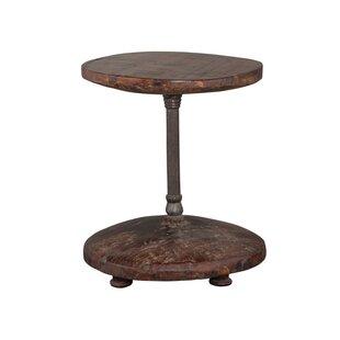 Darold Cart Wheel End Table
