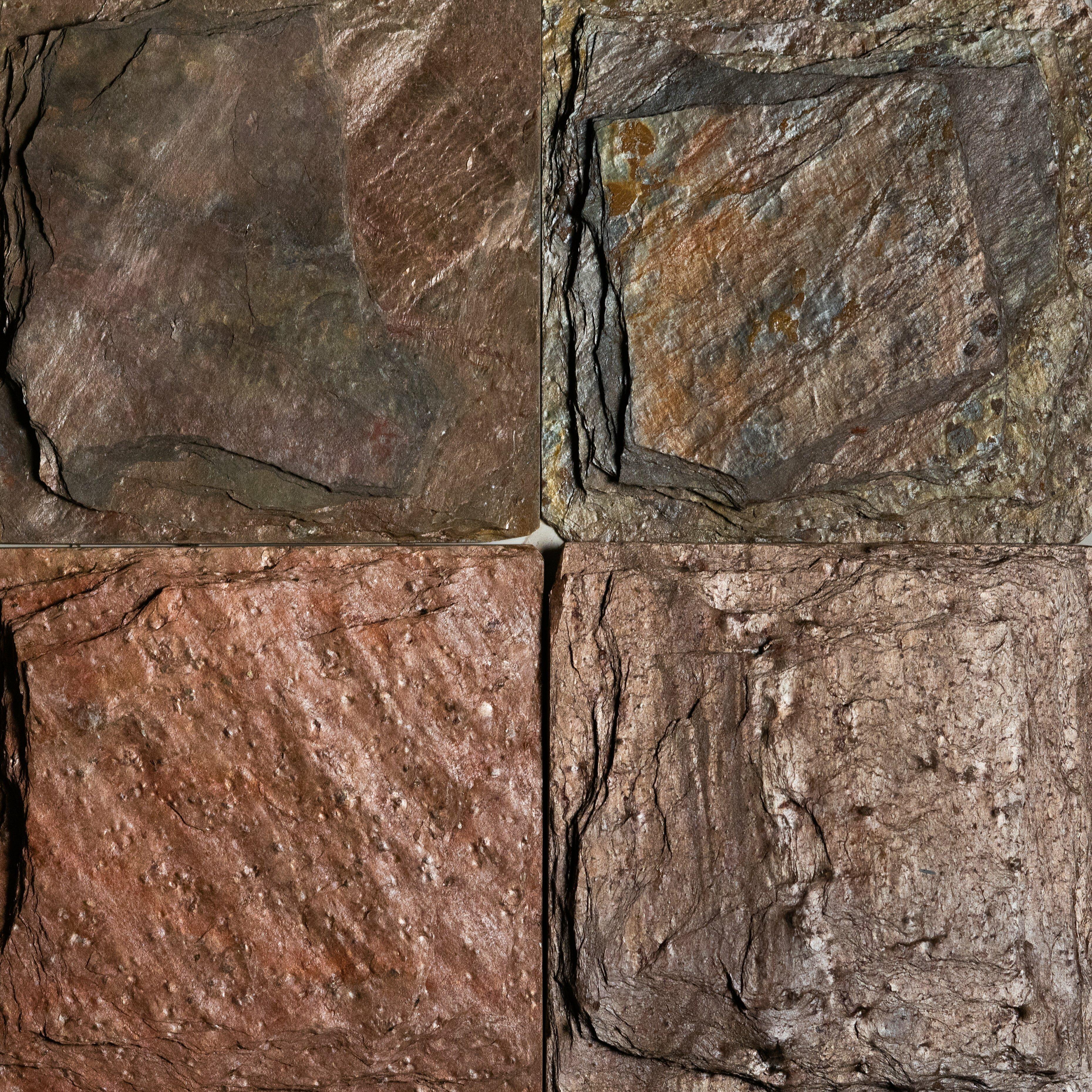 Copper Chiseled 6x6 Slate Field Tile