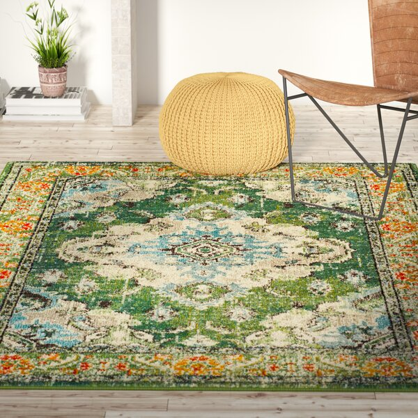 Annabel Green Area Rug by Bungalow Rose
