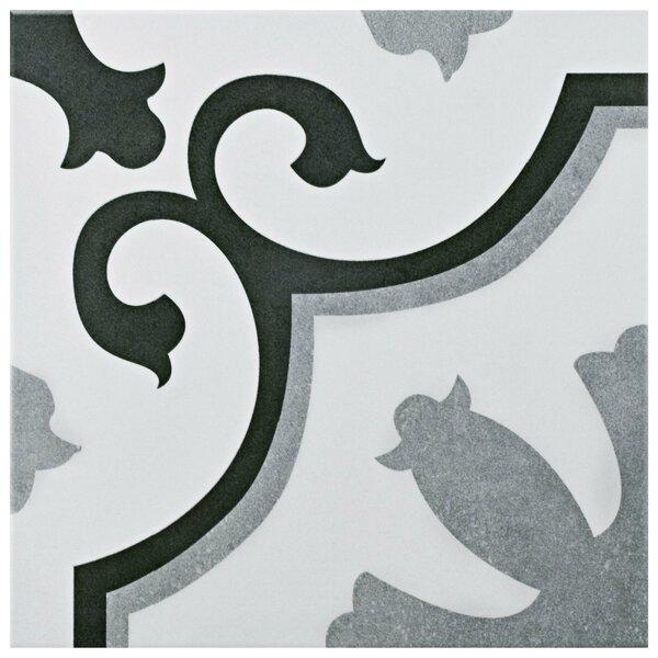 Nouvelle 12.38 x 12.38 Ceramic Field Tile in Gray/