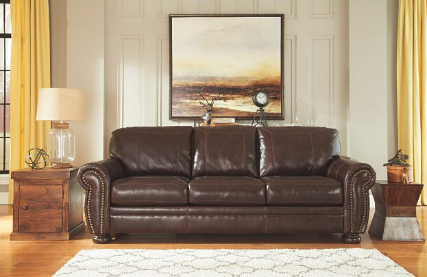 Ryan Industrial Leather Sofa