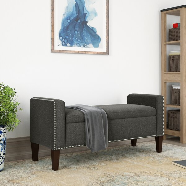 Hulda Hinged Solid Wood Bench by Darby Home Co