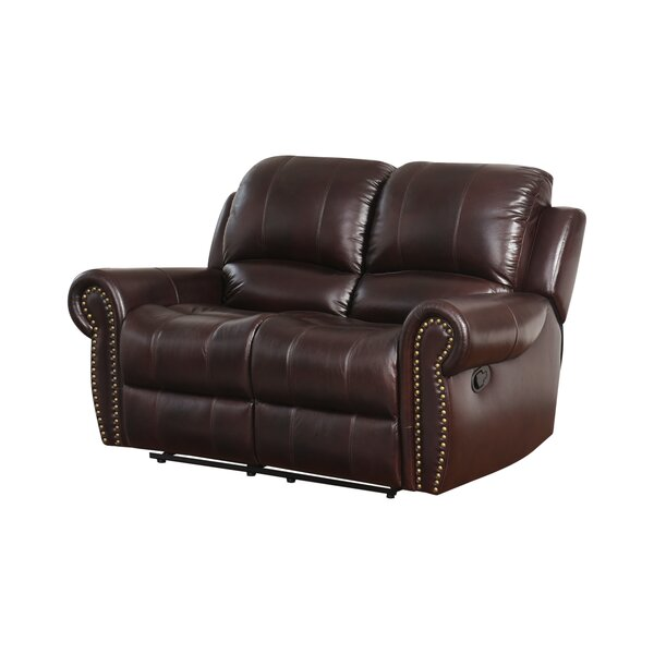 #2 Barnsdale Leather Reclining Loveseat By Darby Home Co New Design