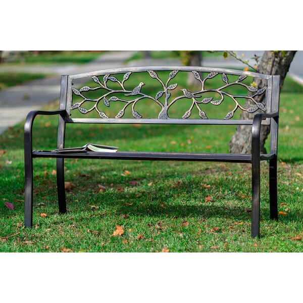 Sharpton Tree Metal Garden Bench by August Grove