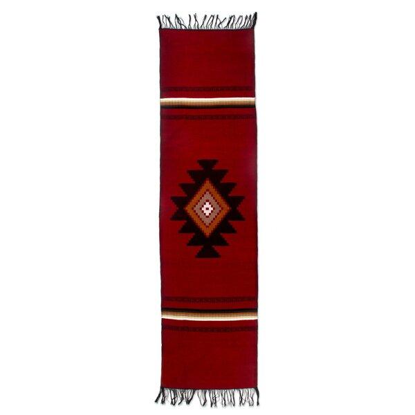 Fair Trade Hand Woven Geometric Totonicapán Sun  Guatemalan Cotton Home Decor Table Runner by Novica