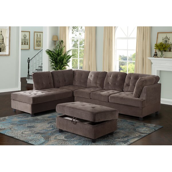Speaks Sectional with Ottoman by Ebern Designs