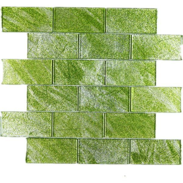 2 x 4 Glass Tile in Green by Multile