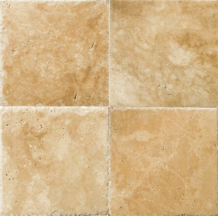 Natural Stone Banded 48 x 48 Travertine Field Tile in Umbria Savera by Emser Tile