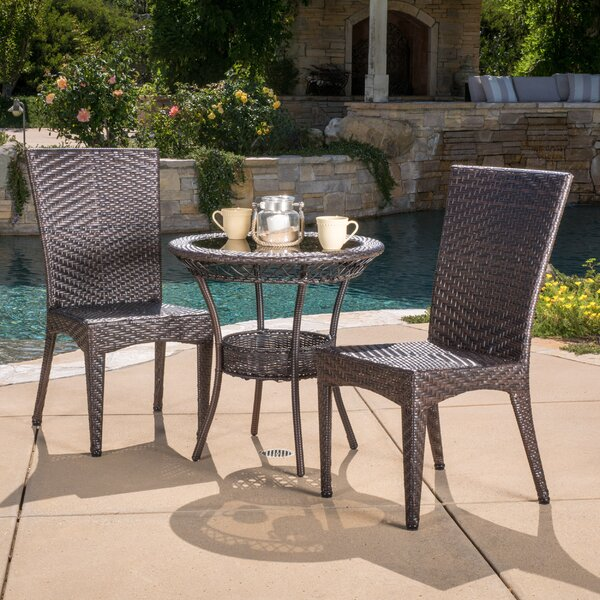 Tuller 3 Piece Bistro Set by Highland Dunes