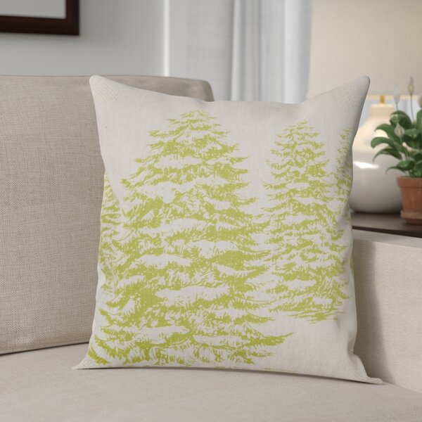 Winter Forest Linen Throw Pillow by The Holiday Aisle