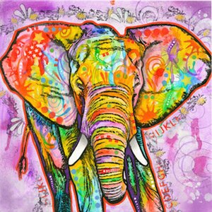 Elephant Painting Print on Canvas by Bungalow Rose
