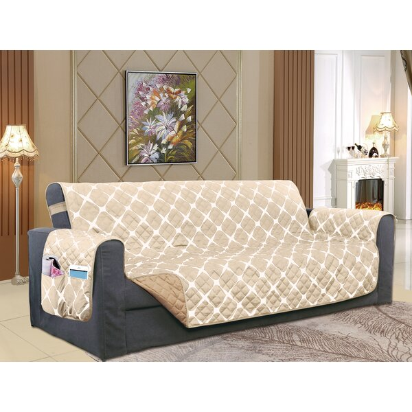 Reversible Furniture Protector Box Cushion Sofa Slipcover by Winston Porter