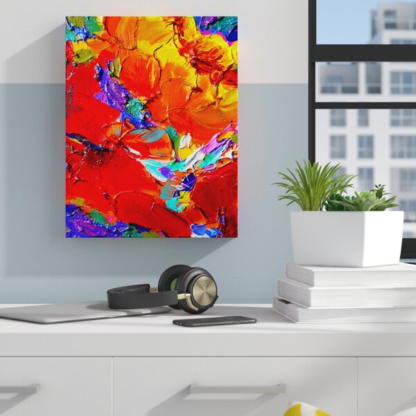 Charlits Floral Susi Franco Painting Print on Canvas by Zipcode Design