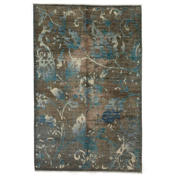 One-of-a-Kind Ziegler Hand-Knotted Brown Area Rug by Darya Rugs